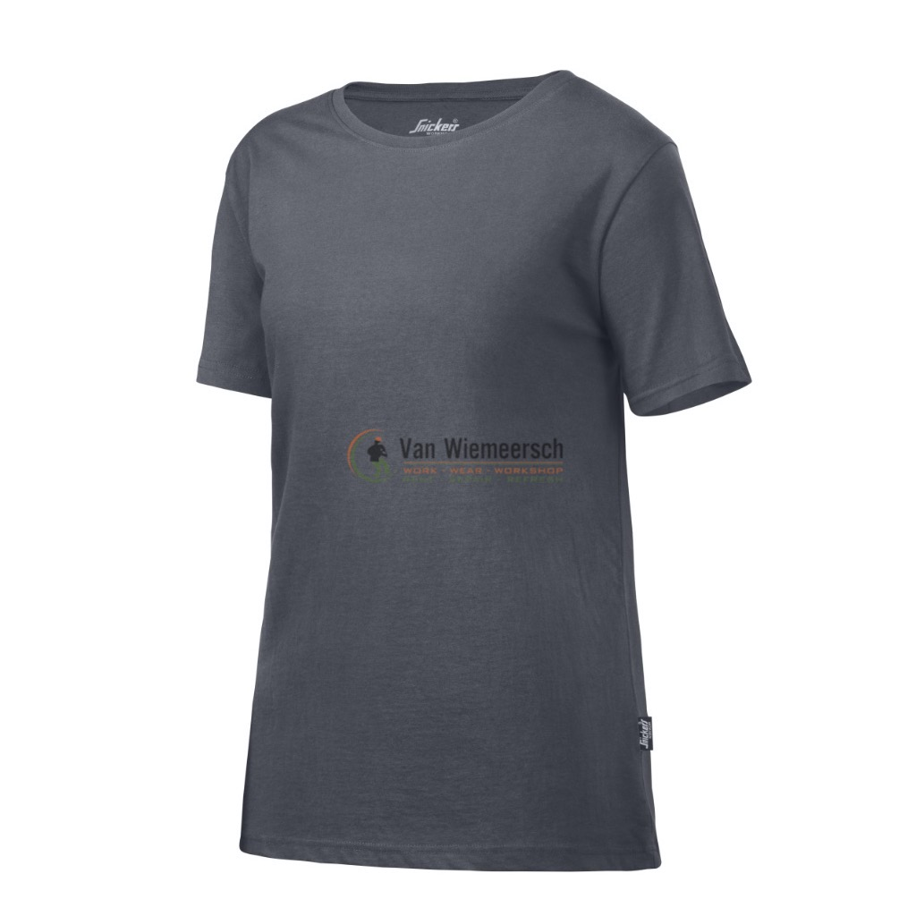 DAMES T-SHIRT 2516 STEEL GREY MT:M REF:25165800005 SNICKERS