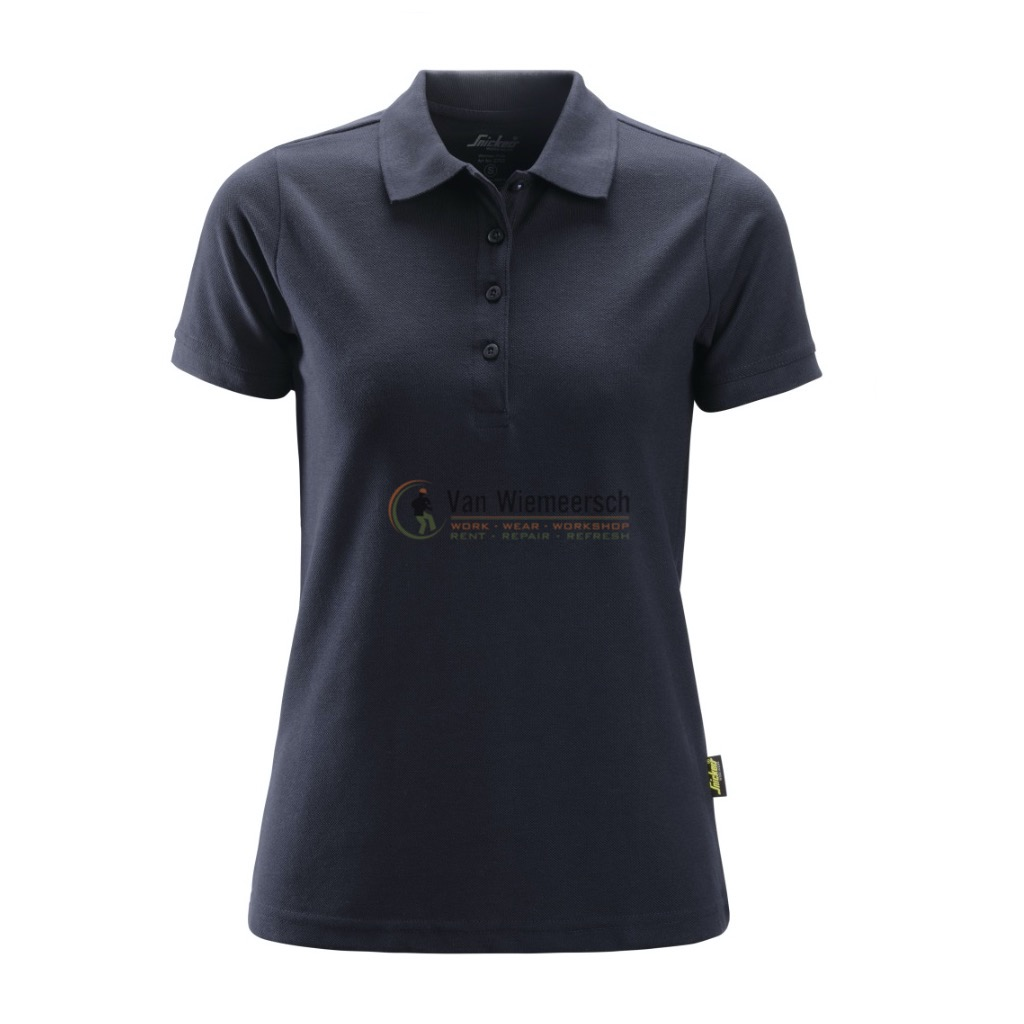 DAMES POLO SHIRT 2702 NAVY MT:S REF:27029500004 SNICKERS