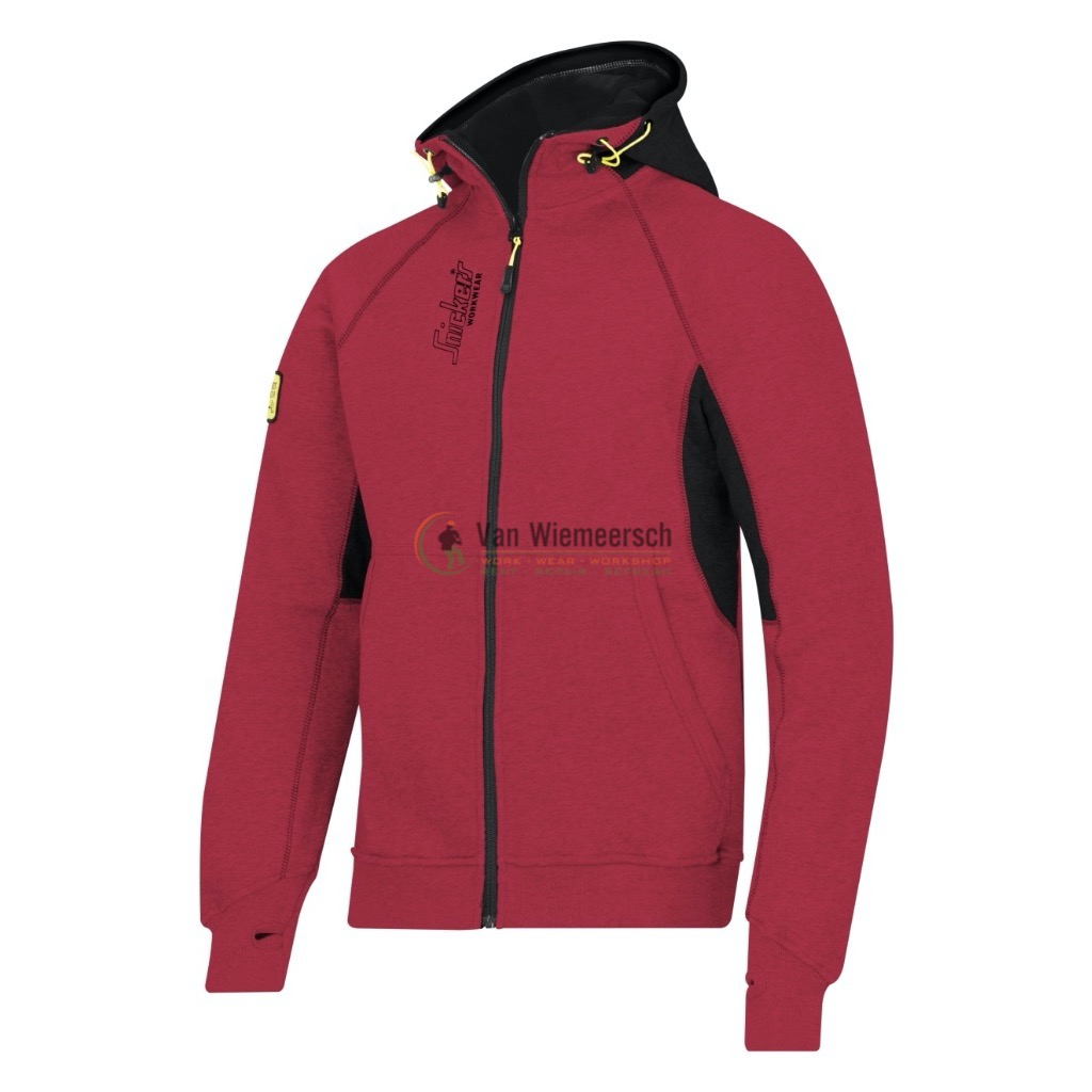ZIPPED LOGO HOODIE 2816 CHILI RED MT:M 28161604005