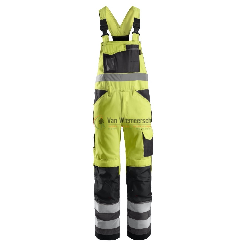 HIGH-VIS OVERALL KL.2 GEEL MT:50 REF:01136674050 SNICKERS