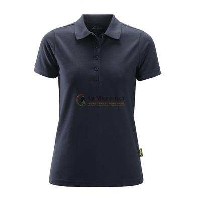 DAMES POLO SHIRT 2702 NAVY MT:XS REF:27029500003 SNICKERS